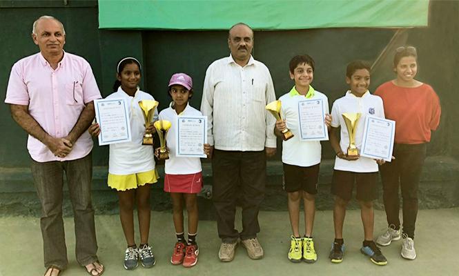 Abhay, Nainika, Keval and Asmi Crowned 2018 MSLTA Masters Champions