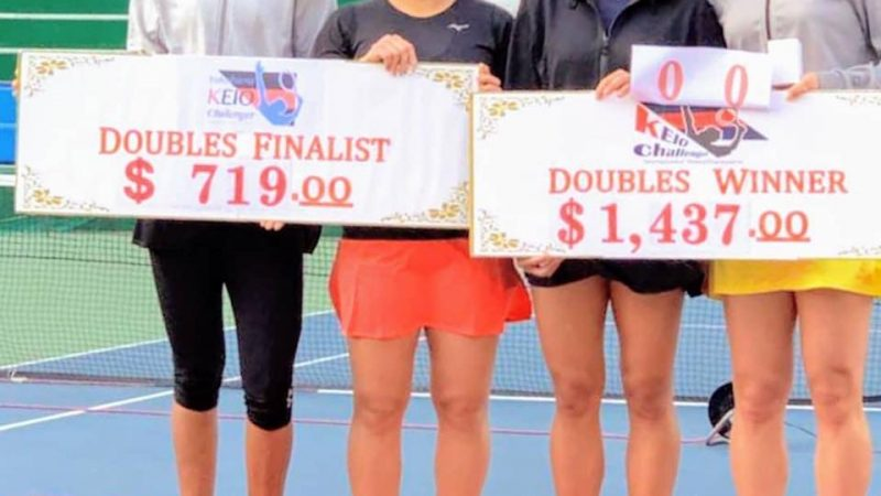 Well done Rutuja Bhosale for finishing runners up in doubles Japan