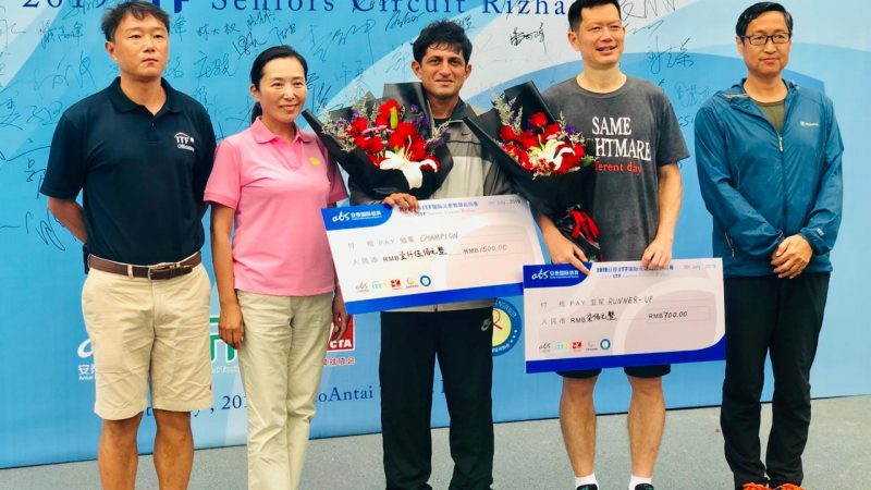 Nitten Kirrtane clinches the singles and doubles title at the ITF Seniors Circuit held in China.
