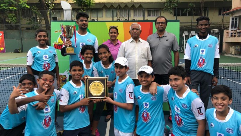 Howling Wolves  lift at 4th MSLTA – Mumbai Open – Junior Tennis League 2019
