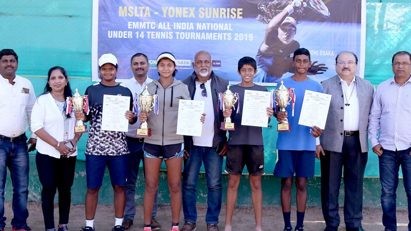 Chavan,Vineeth are champions are MSLTA Yonex Sunrise under 14 National Tennis Tournament