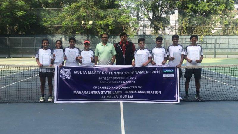 Prajwal, Ruma, Crowned 2019 MSLTA Masters under 14 Champions