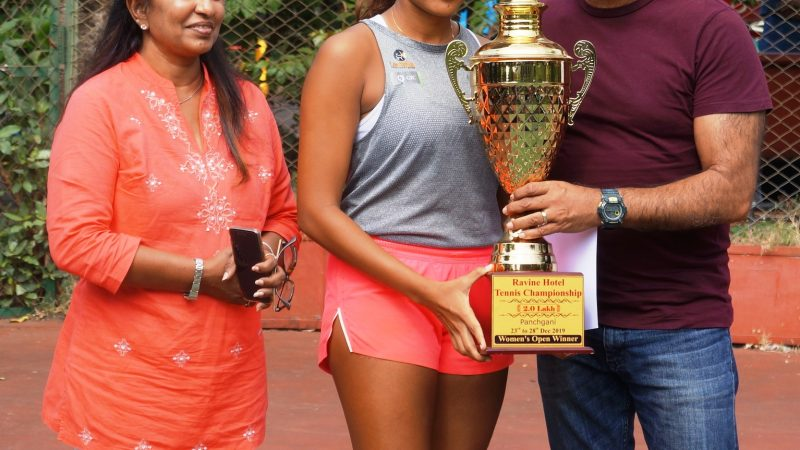 Memorable double crown for Salsa Aher at the MSLTA Hotel Ravine All India Ranking 2Lac Men's and Women's Tennis Tournament 2019.