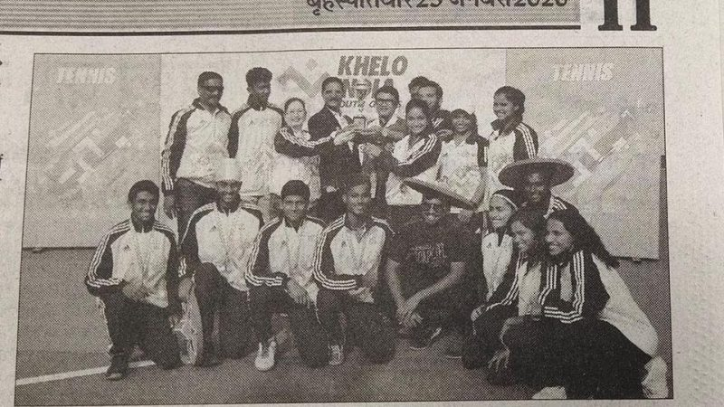 Congratulates to Maharashtra Tennis Team for bagging the overall Championships at the KheloIndia