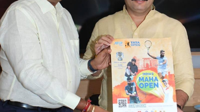 Pune Mayor Mohol launches official poster for the third edition of Tata Open Maharashtra