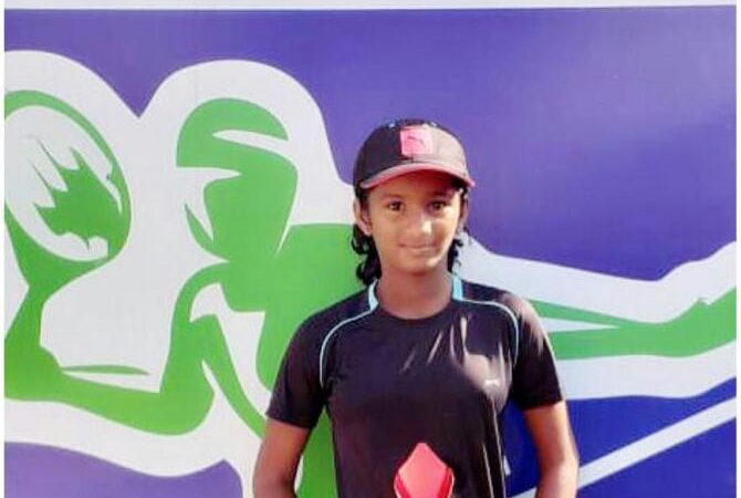 Congratulations to MSLTA Tennis Center, Solapur player Nainika Reddy