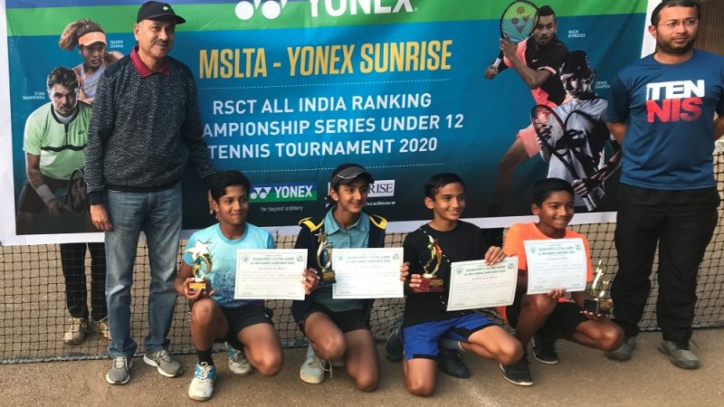 Archit and Serena emerge champions at Rachna Sports and Cultural Trust Championship Series under 12 Tournament