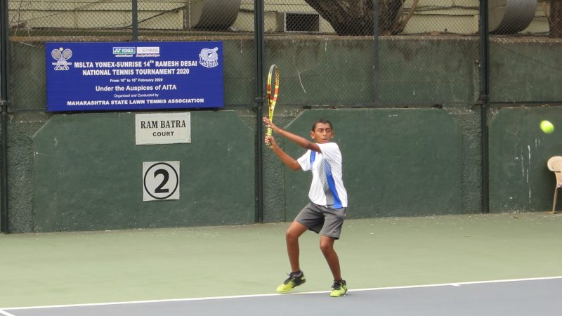 Chaudhary, Bhutada upset seeds at the 14th Ramesh Desai Nationals Under 12 Tennis Tournament