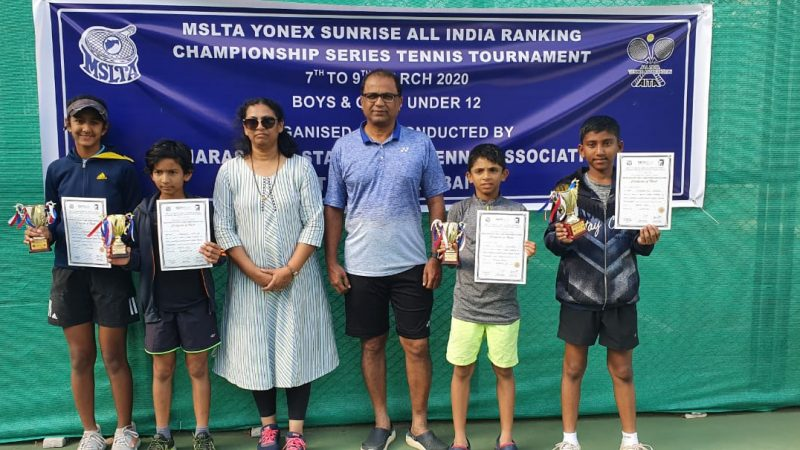 Vishvajeet and Shambhavi emerge champions in MSLTA Championship Series under 12 Tennis Tournament 2020