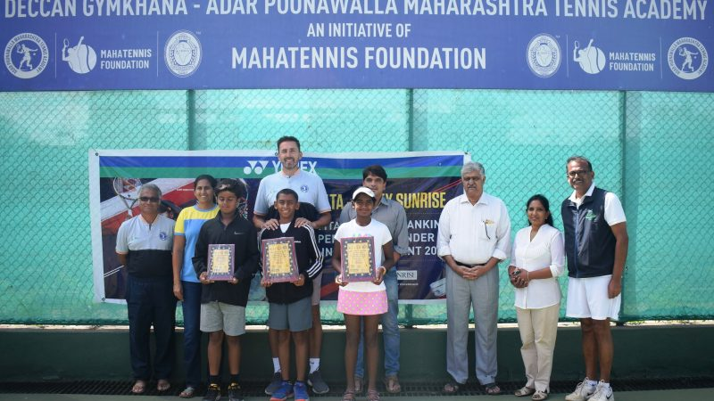 Paparkar, Reddy lift titles at the MSLTA Yonex Sunrise APMTA All India Ranking Super Series U-12 Tennis Tournament