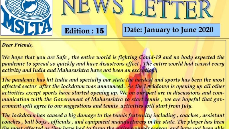15th edition of MSLTA Newsletter is out