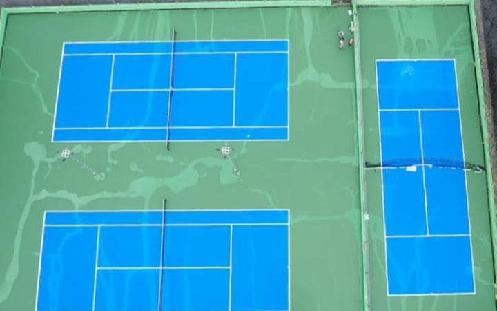 3 new synthetic tennis courts were inaugurated at the Nanded club by Former CM & current PWD minister Shree Ashok Chavan ji