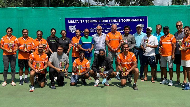 Double Crown for Kirrtane , Gosavi , Kanitkar at the MSLTA ITF Seniors S100 Tennis Tournament
